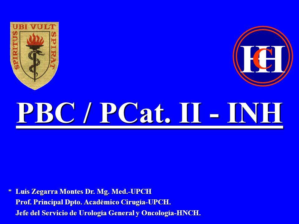 PBC / Cat.II - INH * Zegarra L, Sanchez A, Loza C.