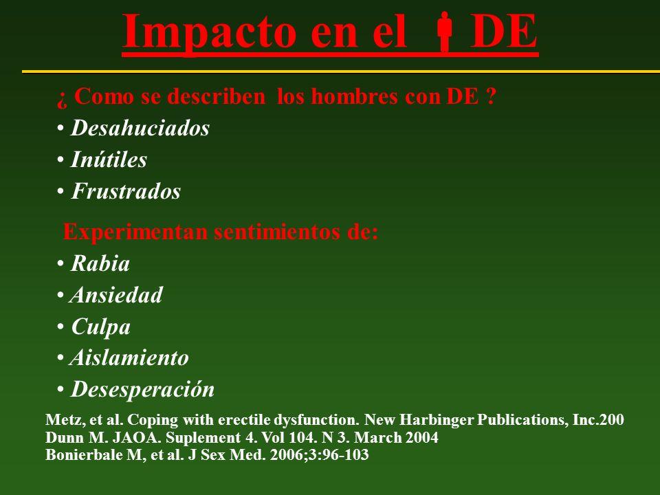 Guías OMS - Manejo de DE Recommendations of the 1st International Consultation on Erectile Dysfunction.