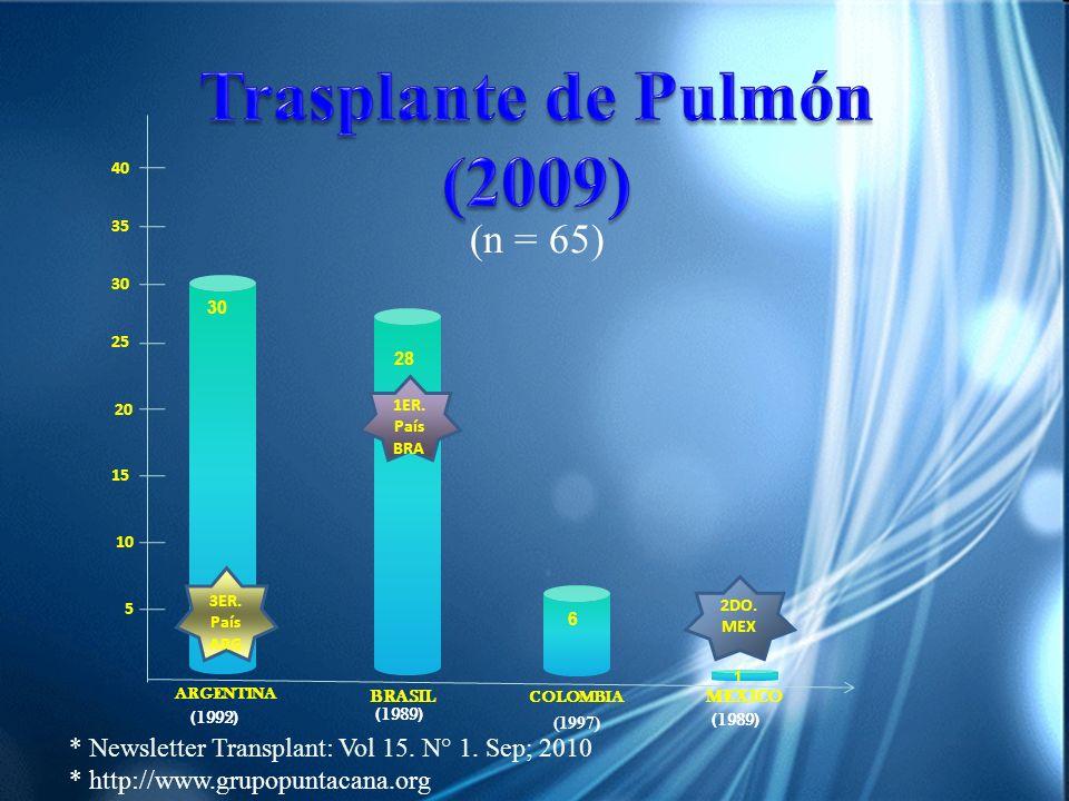 (1992) BRASIL ARGENTINA COLOMBIA MEXICO 28 6 1 (1989) (1997) (1989) 5 10 15 20 25 30 35 40 30 1ER. País BRA 2DO. MEX 3ER. País ARG * Newsletter Transp