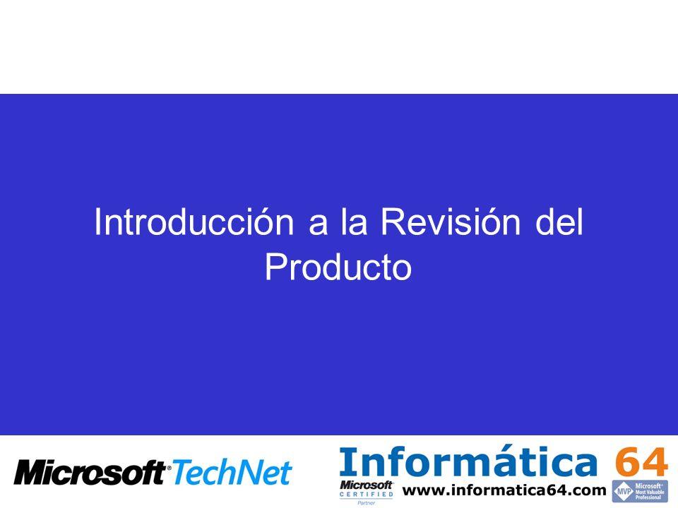 Introducción a la Revisión del Producto