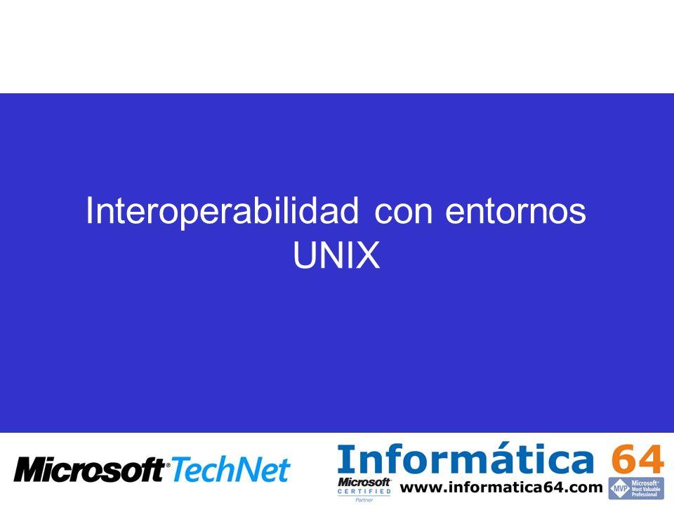 Interoperabilidad con entornos UNIX