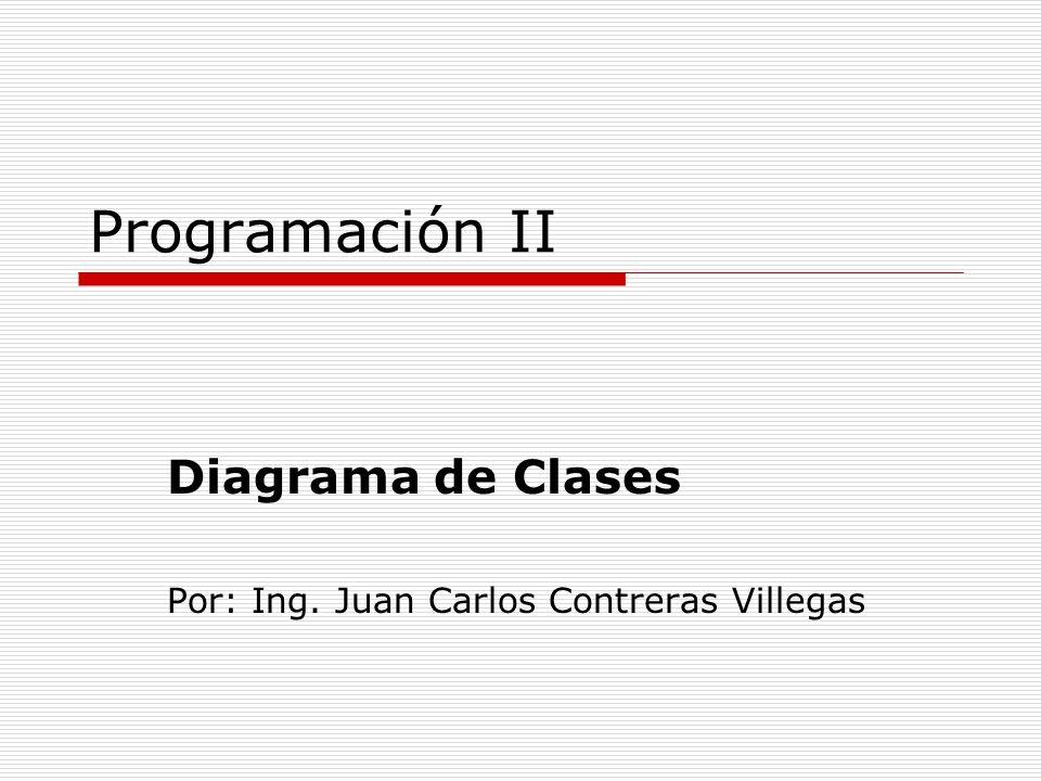 Programación II Diagrama de Clases Por: Ing. Juan Carlos Contreras Villegas