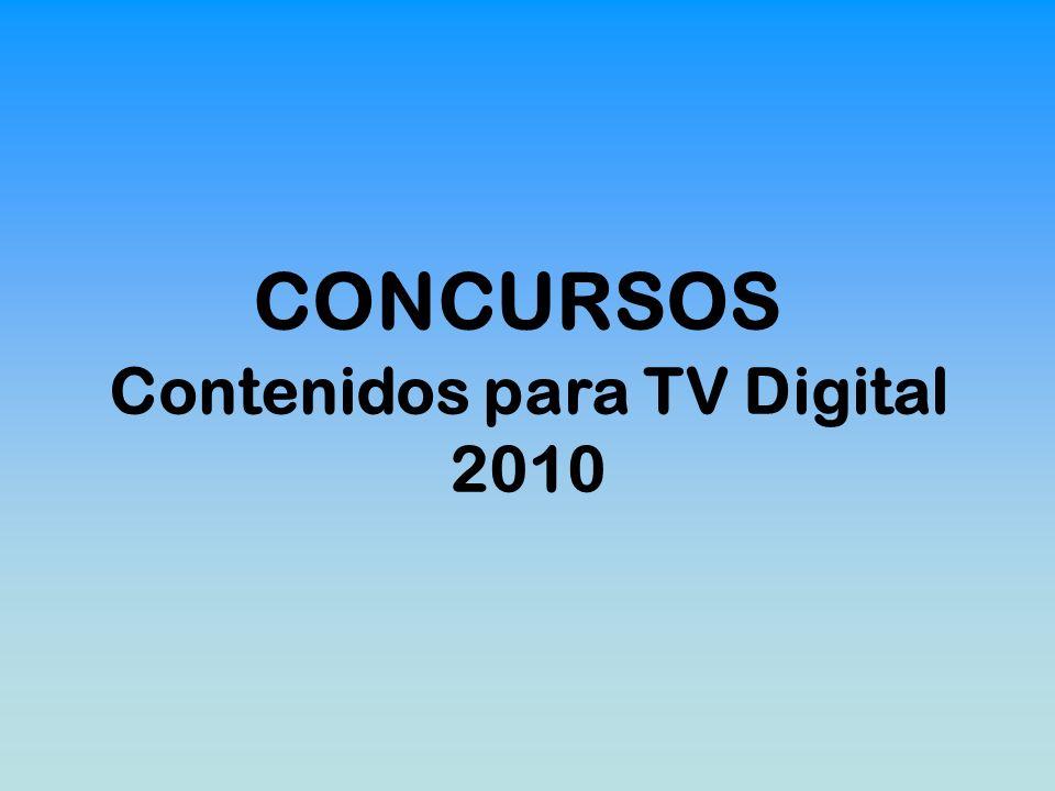 CONCURSOS Contenidos para TV Digital 2010