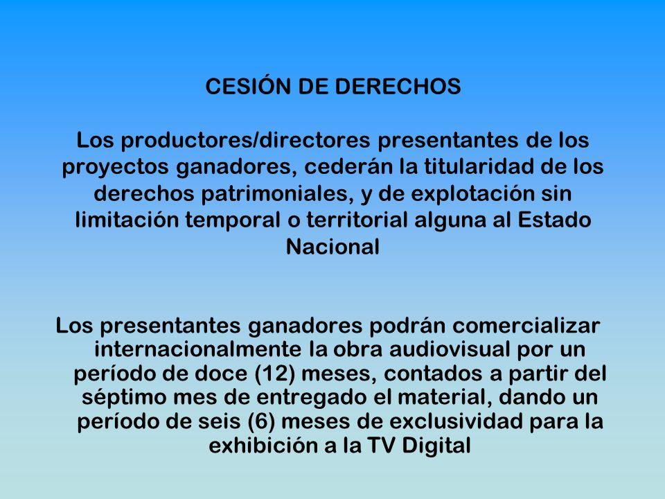 SERIES DE FICCIÓN PARA TV DIGITAL PRODUCIDAS POR PRODUCTORES CON ANTECEDENTES Fecha del llamado 2/08/2010 al 5/10/2010