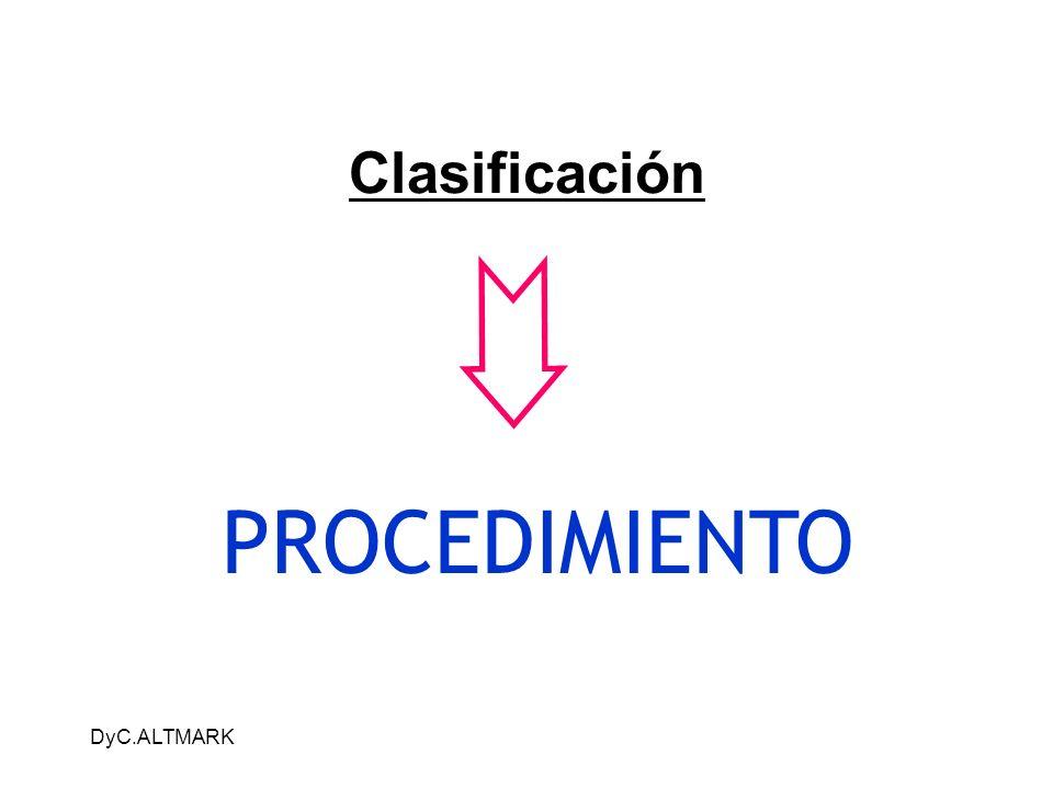 DyC.ALTMARK Clasificación PROCEDIMIENTO