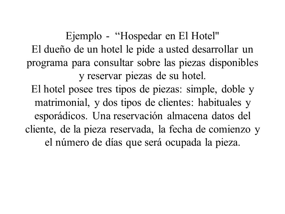 Ejemplo - Hospedar en El Hotel