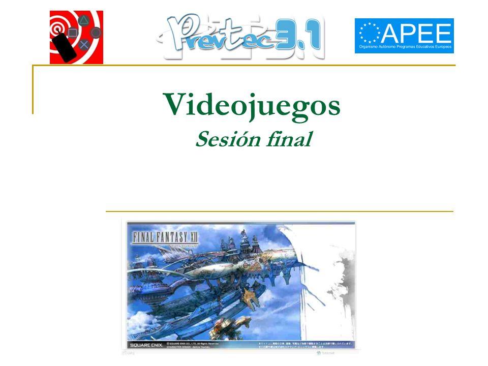 Videojuegos Sesión final