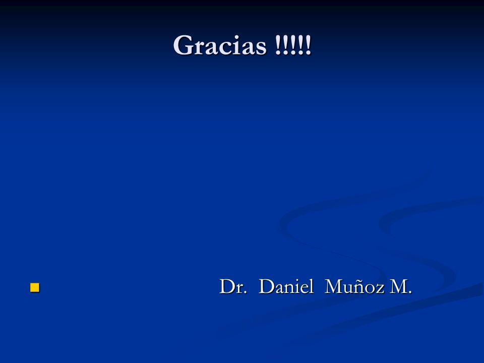 Gracias !!!!! Dr. Daniel Muñoz M. Dr. Daniel Muñoz M.