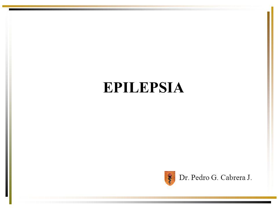 EPILEPSIA Cuadro crónico, caracterizado por crisis recurrentes, con diversas manifestaciones clínicas y etiología variable que se produce por descargas excesivas, súbitas e hipersincrónicas de neuronas corticales.