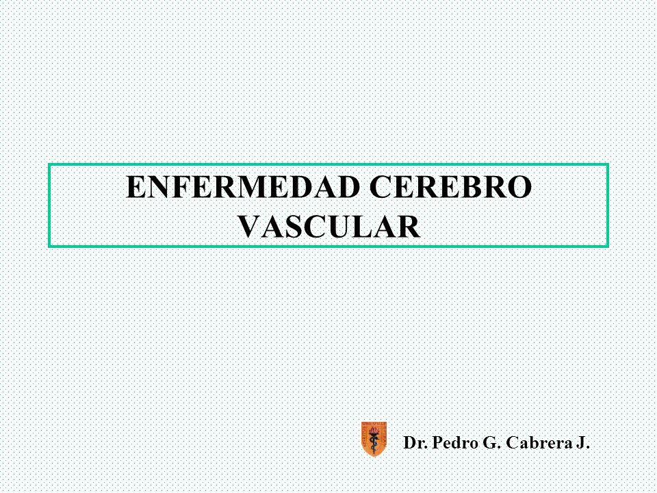 ECV Hemorrágico Hemorragia intracerebral parenquimatosa Hipertensión(60%), infartos hemorrágicos por uso de anticoagulantes o fibrinolíticos, tumores cerebrales, malformación vasculares.
