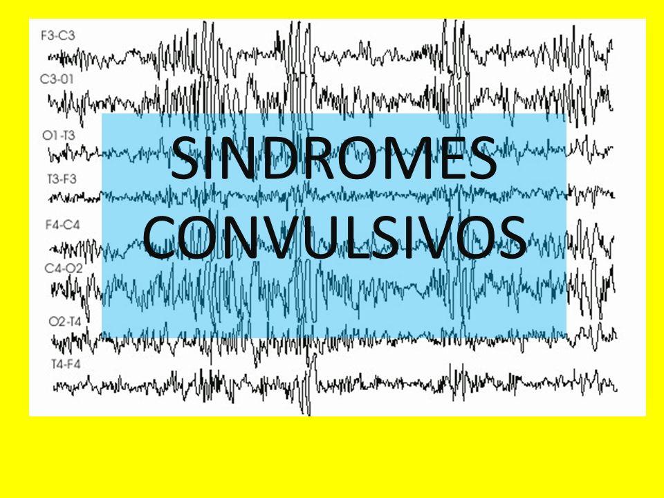 Crisis convulsivas Los sindromes convulsivos son descargas eléctricas sincrónicas que suceden en un foco del encefalo, estas de acuerdo al área pueden expresar movimientos y ser motoras o ser áreas sensitivas y no presentar movimiento