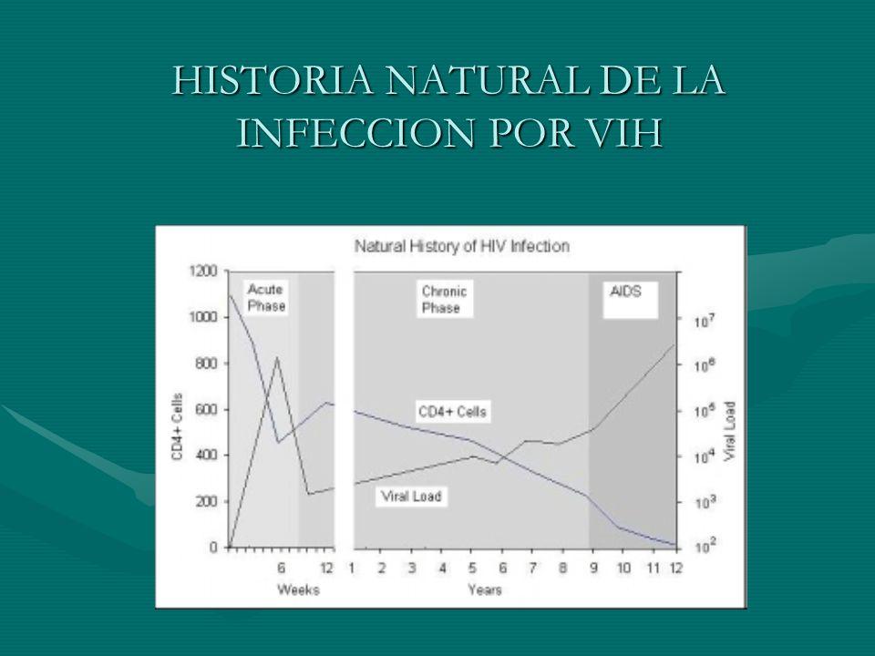HISTORIA NATURAL DE LA INFECCION POR VIH