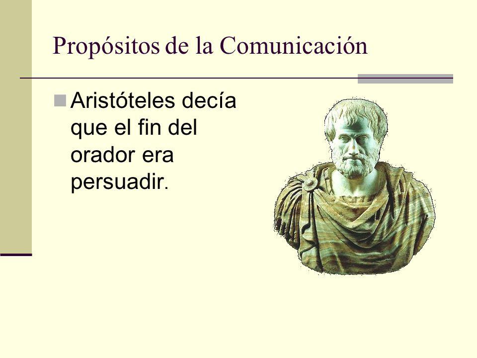 Aristóteles decía que el fin del orador era persuadir.