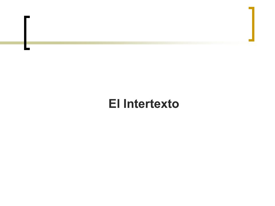 El Intertexto