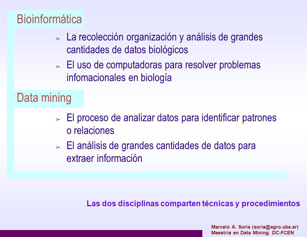 Bioinformática La recolección organización y análisis de grandes cantidades de datos biológicos El uso de computadoras para resolver problemas infomac