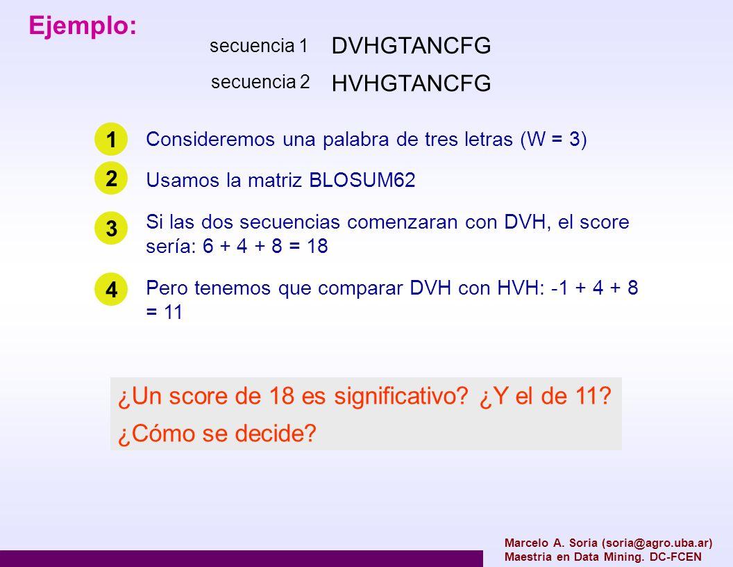 Marcelo A. Soria (soria@agro.uba.ar) Maestria en Data Mining. DC-FCEN DVHGTANCFG HVHGTANCFG Ejemplo: secuencia 1 secuencia 2 Consideremos una palabra