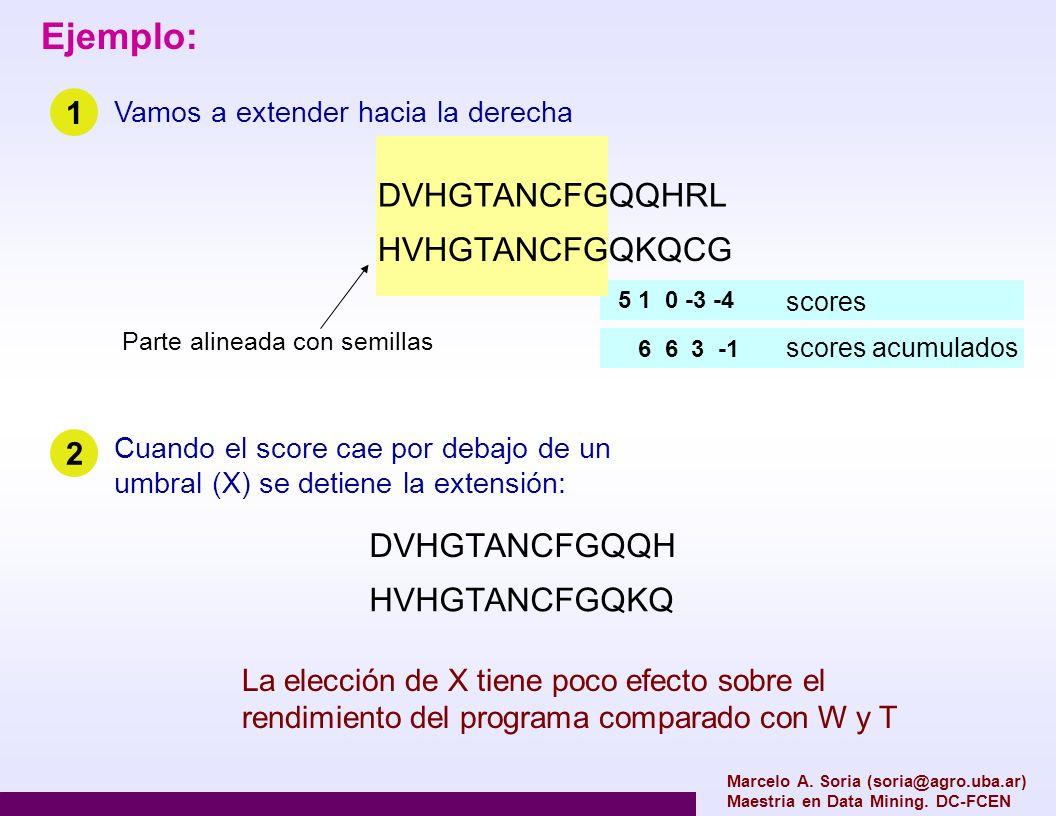 Marcelo A. Soria (soria@agro.uba.ar) Maestria en Data Mining. DC-FCEN DVHGTANCFGQQHRL HVHGTANCFGQKQCG Ejemplo: Vamos a extender hacia la derecha Parte