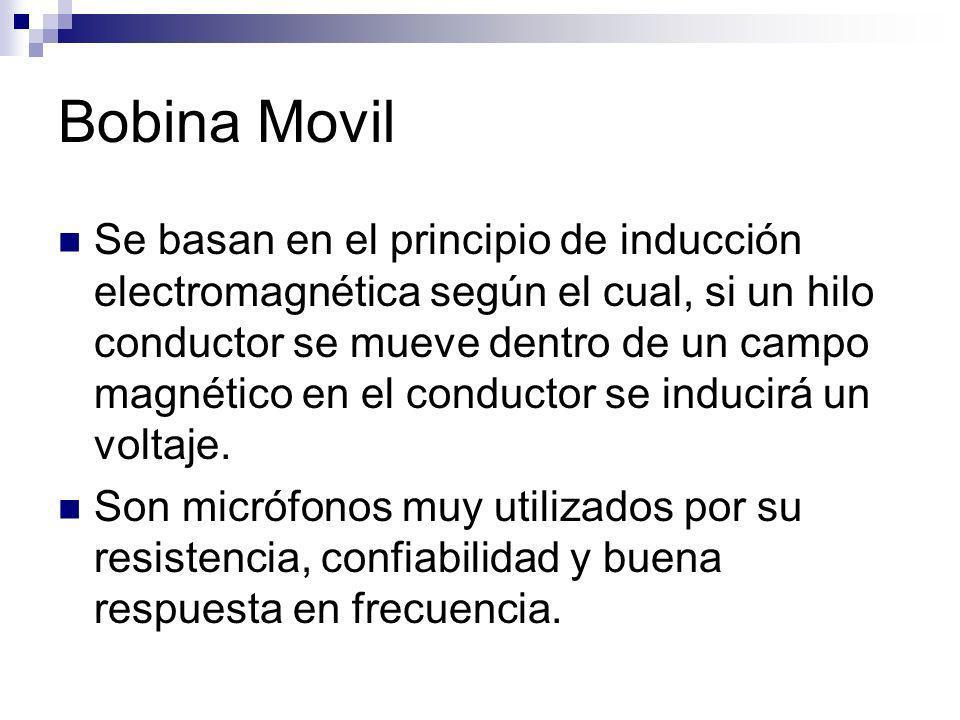 Bobina Movil Se basan en el principio de inducción electromagnética según el cual, si un hilo conductor se mueve dentro de un campo magnético en el co