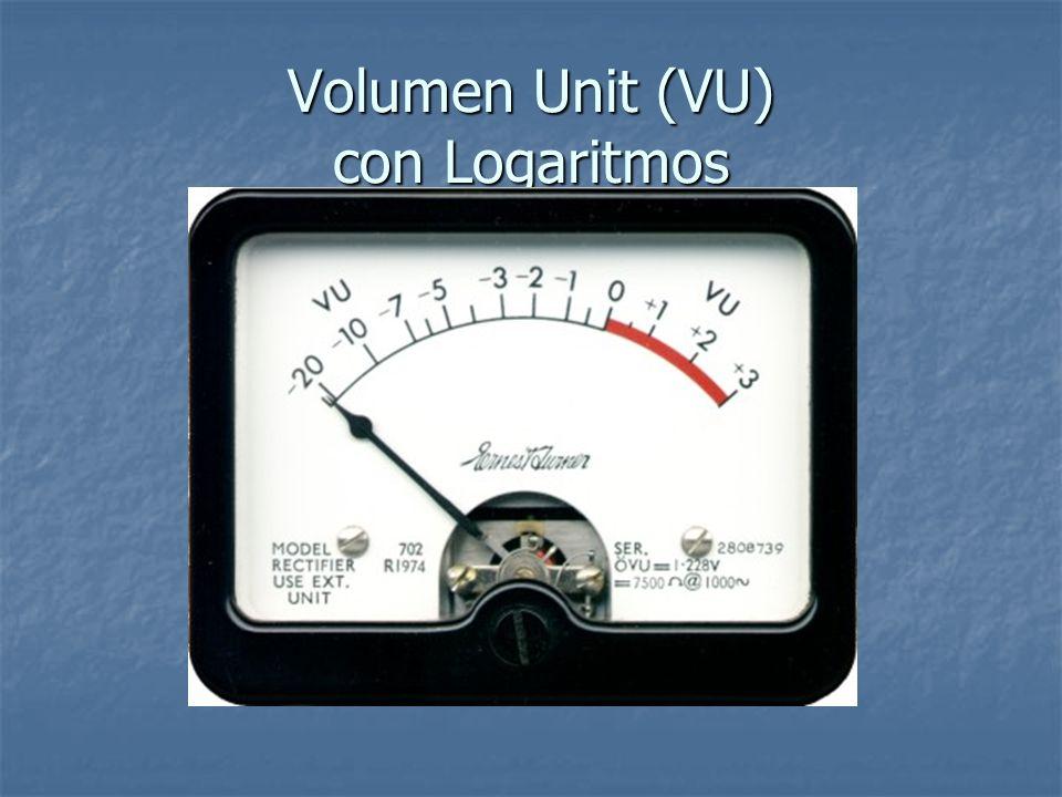 VU con SPL dB y Logaritmos