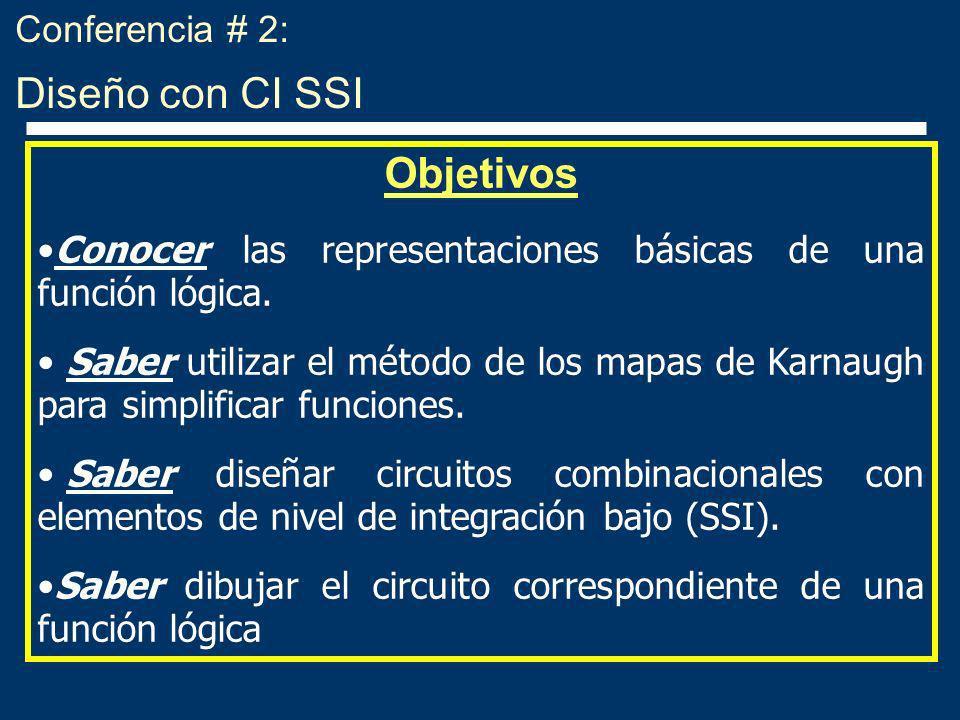 Diseño de circuitos combinacionales con CI SSI 1.Entender el problema que es el objeto del diseño.