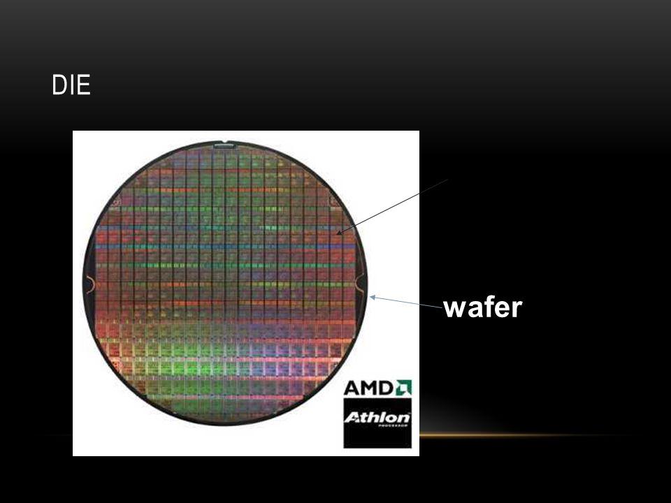 ALGUNAS DEFINICIONES Die Size: Describe erróneamente el tamaño menor de los transistores en el chip.