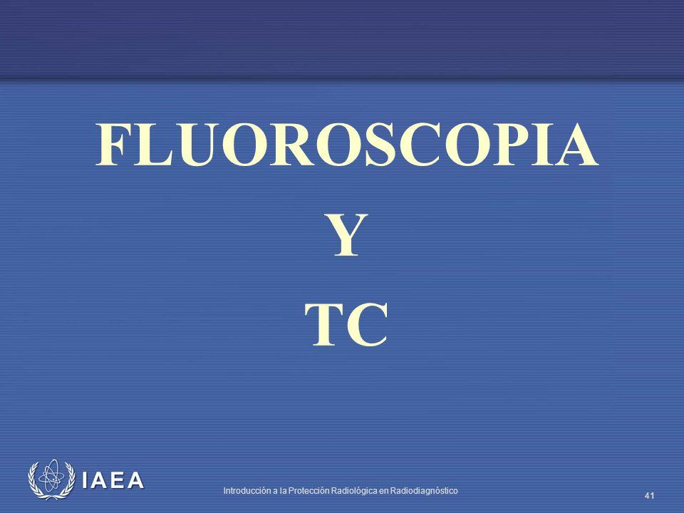 IAEA Introducción a la Protección Radiológica en Radiodiagnóstico 41 FLUOROSCOPIA Y TC