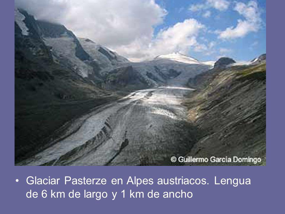 Glaciar Pasterze en Alpes austriacos. Lengua de 6 km de largo y 1 km de ancho