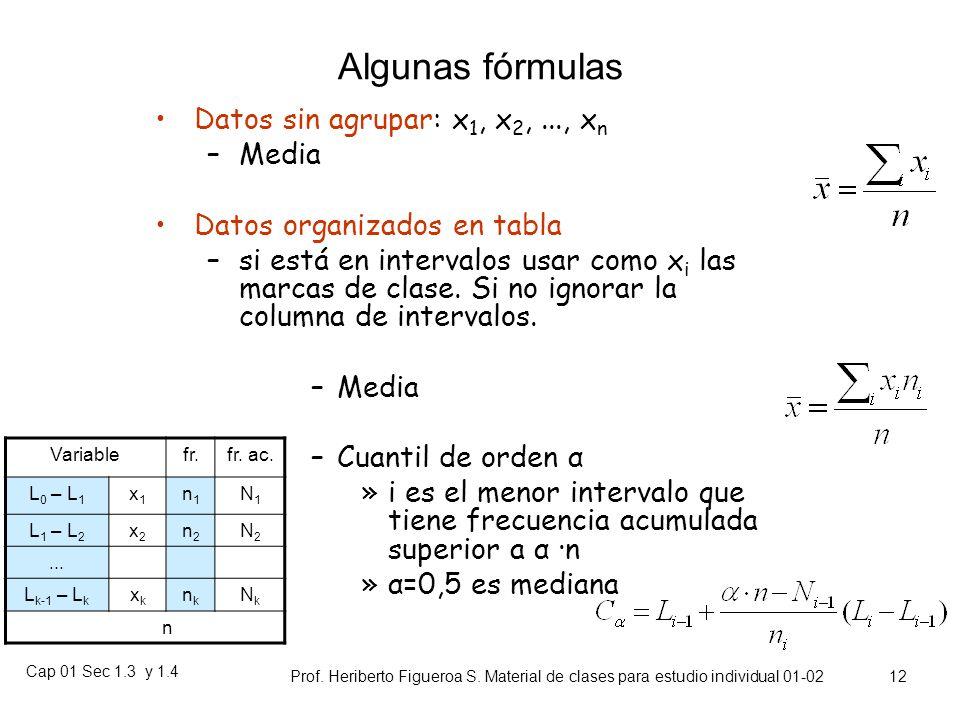 Cap 01 Sec 1.3 y 1.4 Prof. Heriberto Figueroa S. Material de clases para estudio individual 01-02 11 Centralización Añaden unos cuantos casos particul