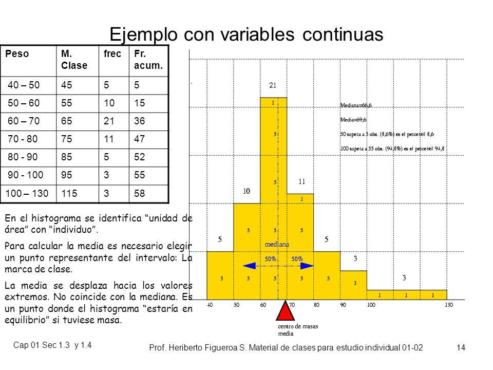 Cap 01 Sec 1.3 y 1.4 Prof. Heriberto Figueroa S. Material de clases para estudio individual 01-02 13 Altura mediana