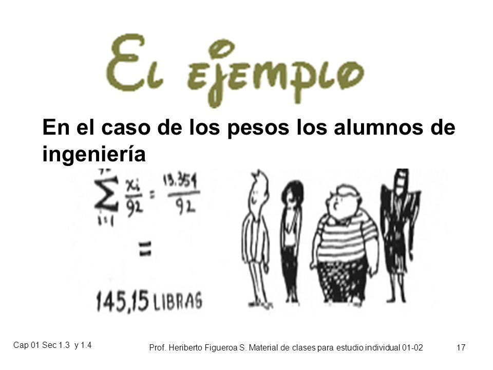 Cap 01 Sec 1.3 y 1.4 Prof. Heriberto Figueroa S. Material de clases para estudio individual 01-02 16