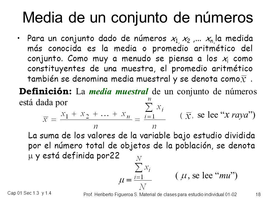 Cap 01 Sec 1.3 y 1.4 Prof. Heriberto Figueroa S. Material de clases para estudio individual 01-02 17 En el caso de los pesos los alumnos de ingeniería