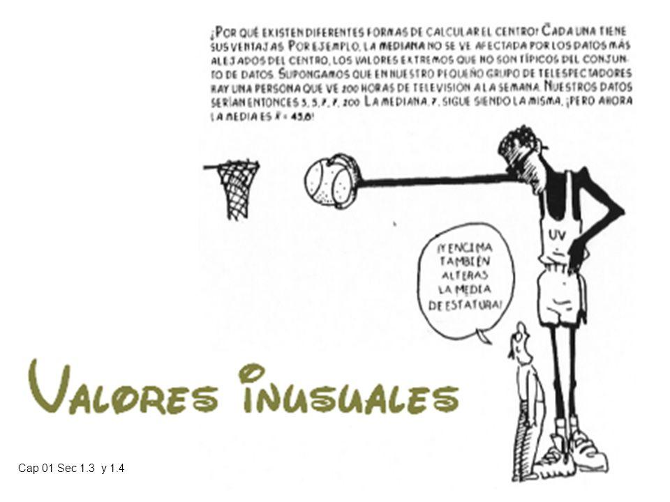 Cap 01 Sec 1.3 y 1.4 Prof. Heriberto Figueroa S. Material de clases para estudio individual 01-02 32 Relaciones entre Medias y medianas poblacionales