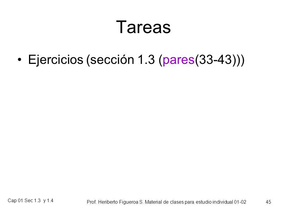 Cap 01 Sec 1.3 y 1.4 Prof. Heriberto Figueroa S. Material de clases para estudio individual 01-02 44 Datos categóricos y proporción muestral Dada una