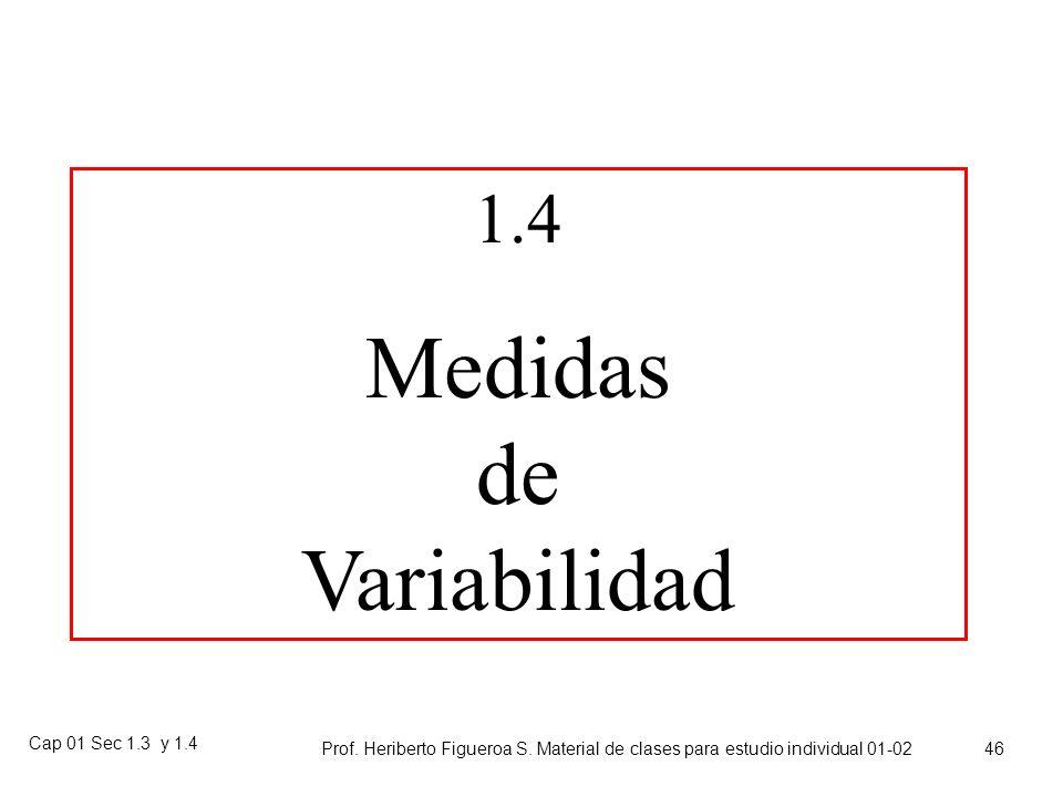 Cap 01 Sec 1.3 y 1.4 Prof. Heriberto Figueroa S. Material de clases para estudio individual 01-02 45 Tareas Ejercicios (sección 1.3 (pares(33-43)))