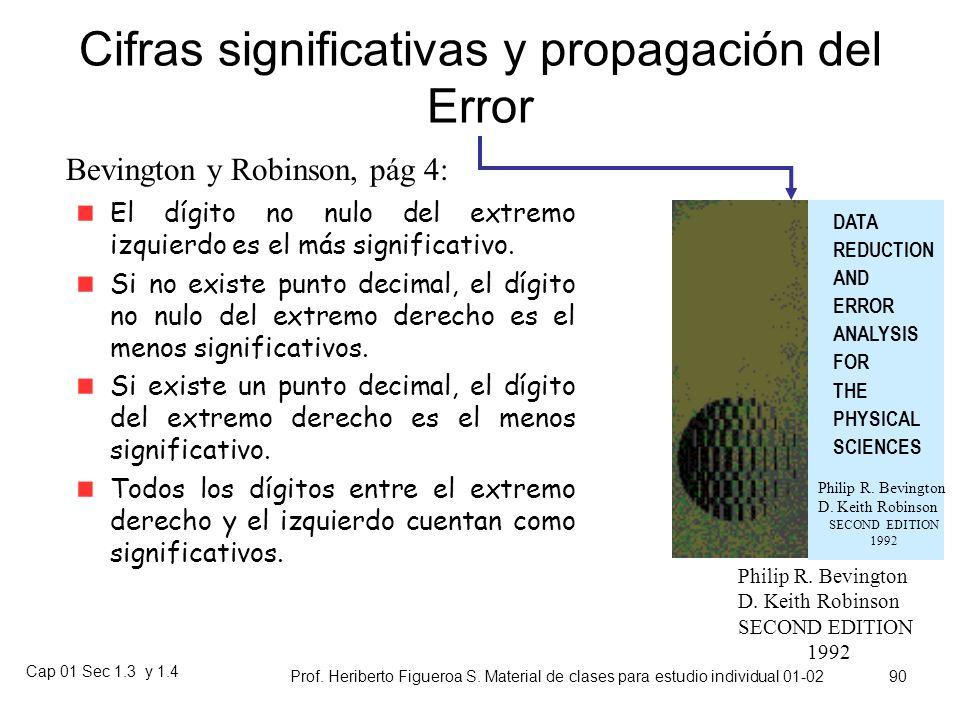 Cap 01 Sec 1.3 y 1.4 Prof. Heriberto Figueroa S. Material de clases para estudio individual 01-02 89