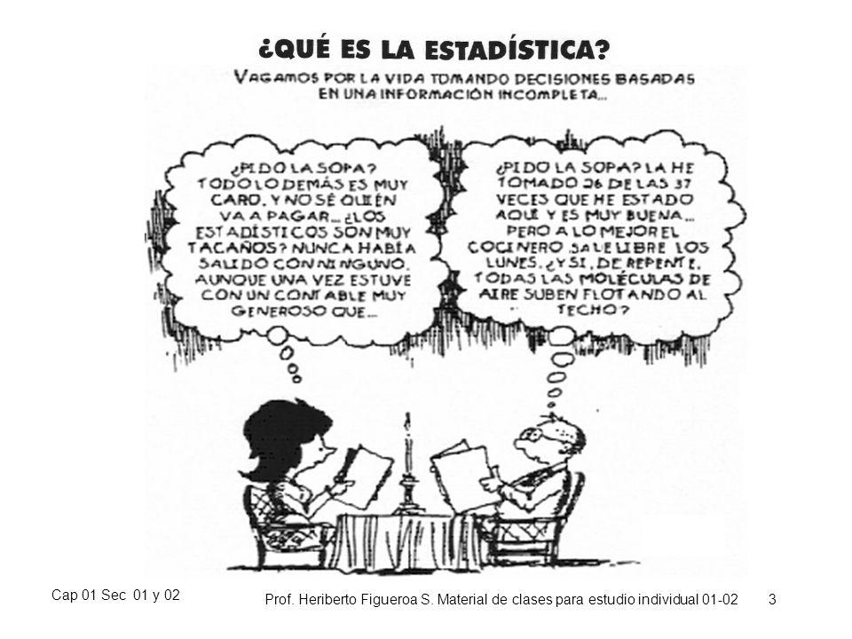 Cap 01 Sec 01 y 02 Prof. Heriberto Figueroa S. Material de clases para estudio individual 01-02 3