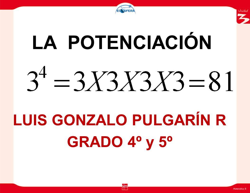 Raíz Cuadrada : Si el Indice de la raíz es 2, éste no se escribe, encima del radical( ).