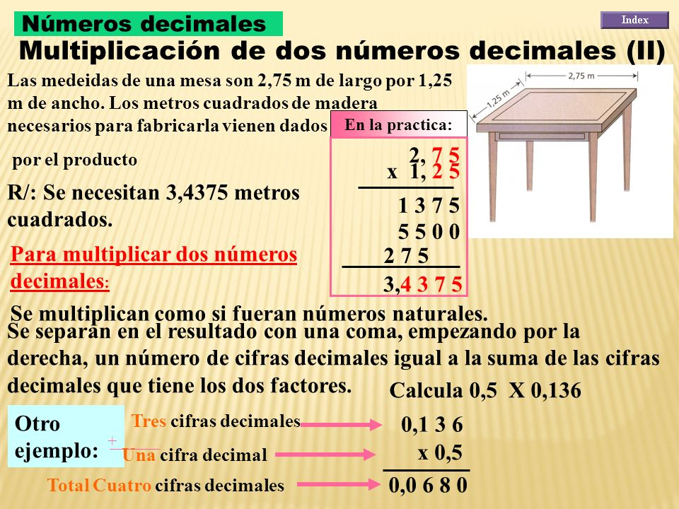 Un euro vale 2.346,386 pesos. ¿Cuántas pesos valdrán 8 euros? R/: Los 8 euros valen 18.771,088 pesos. 2.346,386 x 8 18.771,088 Para multiplicar un núm