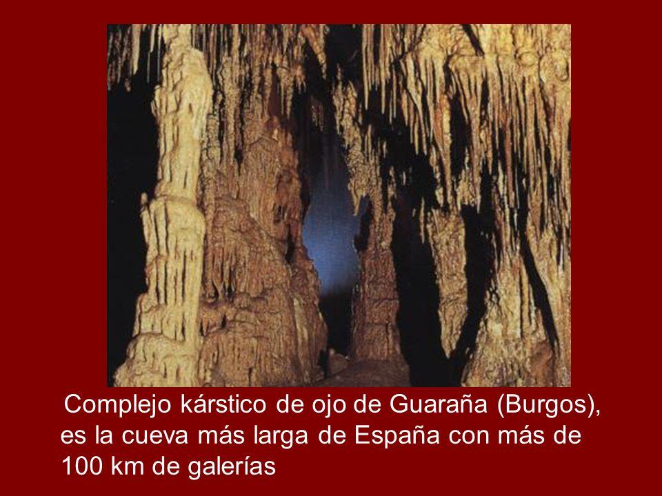 Complejo kárstico de ojo de Guaraña (Burgos), es la cueva más larga de España con más de 100 km de galerías