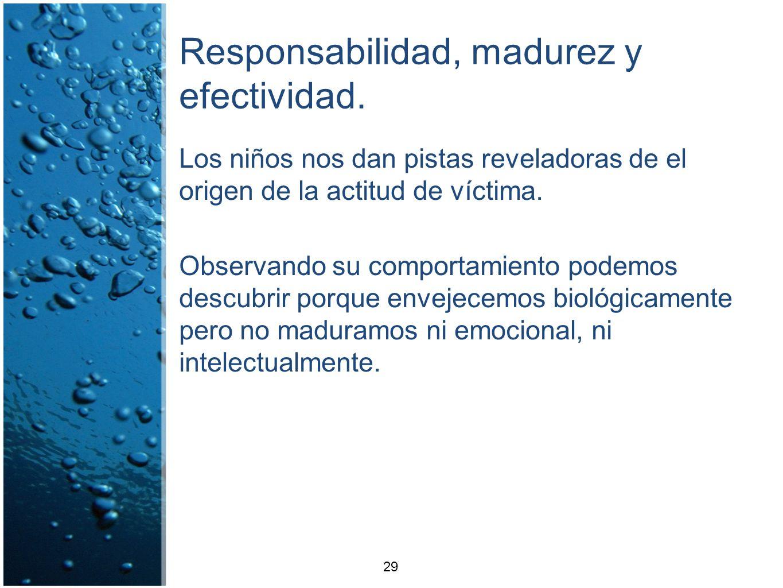 Responsabilidad, madurez y efectividad. Los niños nos dan pistas reveladoras de el origen de la actitud de víctima. Observando su comportamiento podem