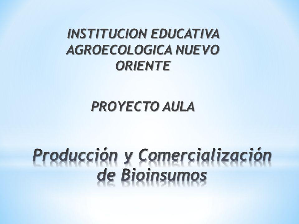 ¿Cómo aprovechar los recursos locales y los residuos sólidos orgánicos producidos en la comunidad educativa Nuevo Oriente para la producción y la comercialización de Bioinsumos que contribuyan al mejoramiento del Ambiente y la calidad de vida de la comunidad de la I.E.