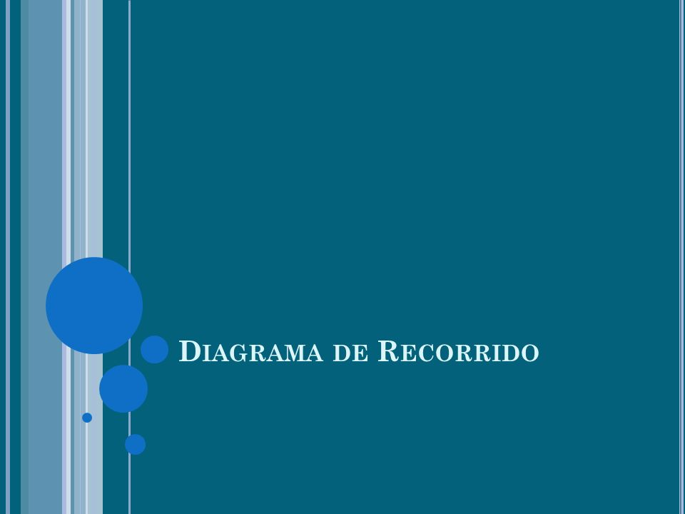 D IAGRAMA DE R ECORRIDO