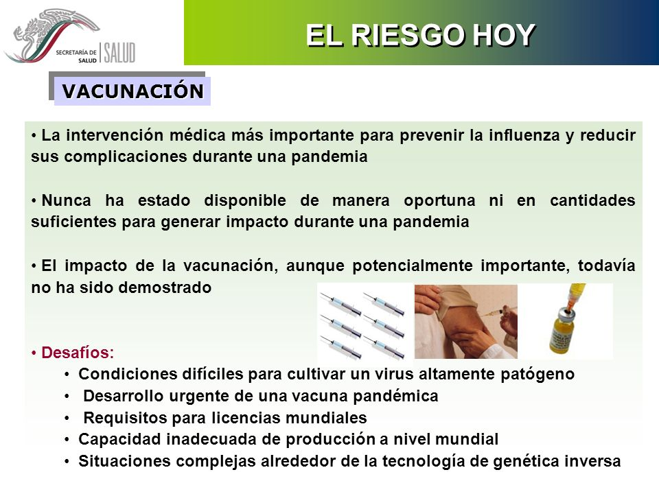 La intervención médica más importante para prevenir la influenza y reducir sus complicaciones durante una pandemia Nunca ha estado disponible de maner