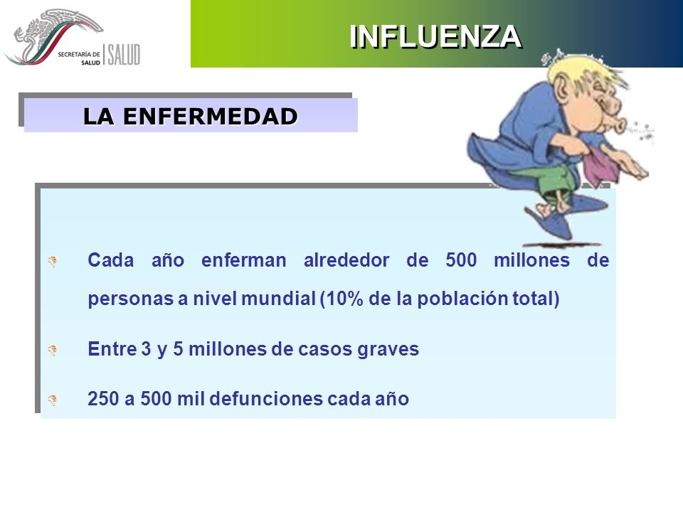 INFLUENZA EL VIRUS D La influenza es causada por un RNA virus D Existen tres tipos de virus: A, B y C D La influenza A puede infectar humanos y animales.
