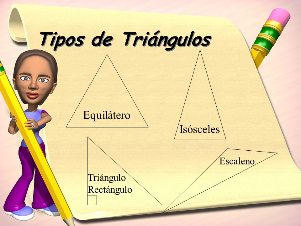Tipos de Triángulos Equilátero Isósceles Escaleno Triángulo Rectángulo