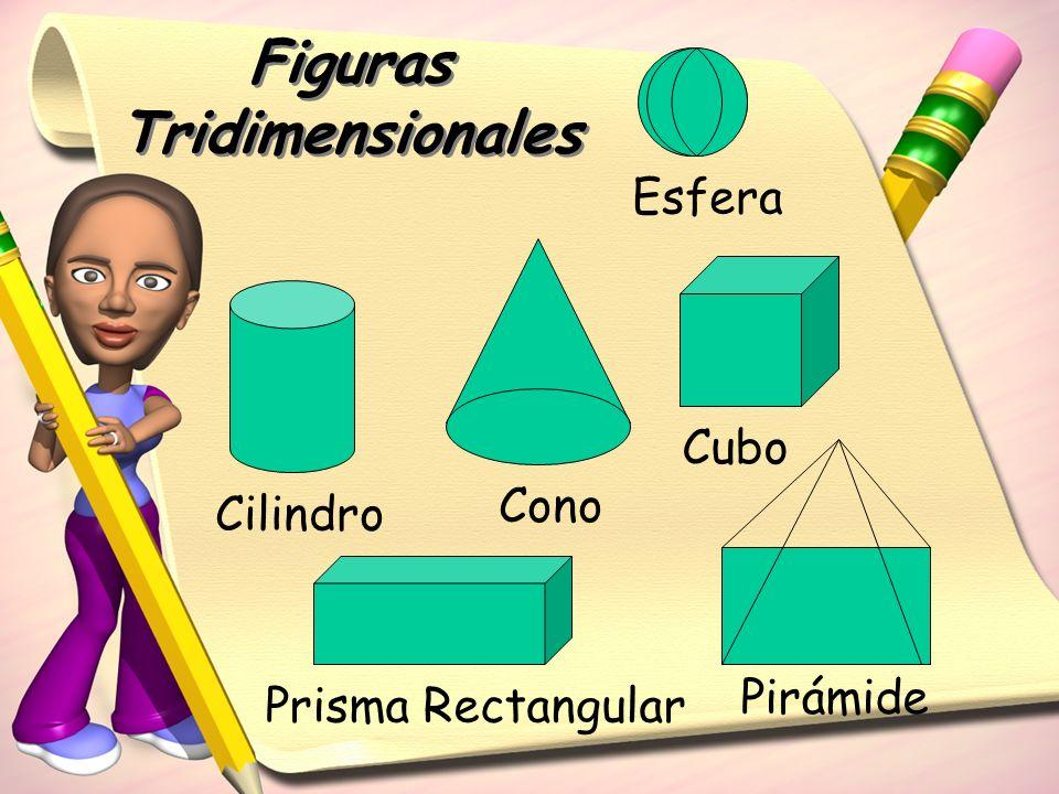 Figuras Tridimensionales Cilindro Cono Cubo Prisma Rectangular Pirámide Esfera