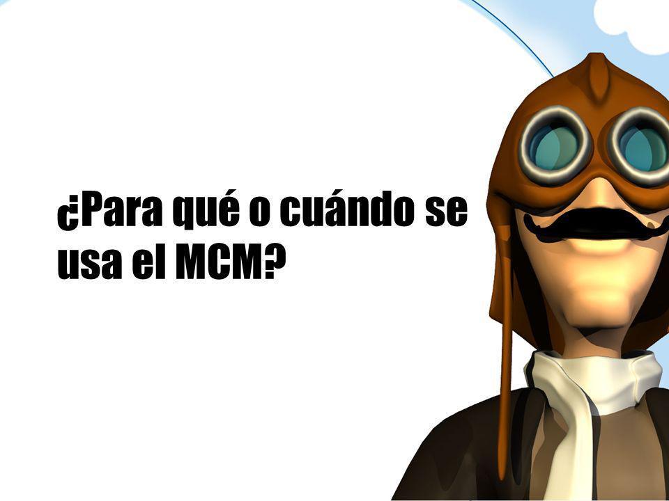 ¿Para qué o cuándo se usa el MCM?