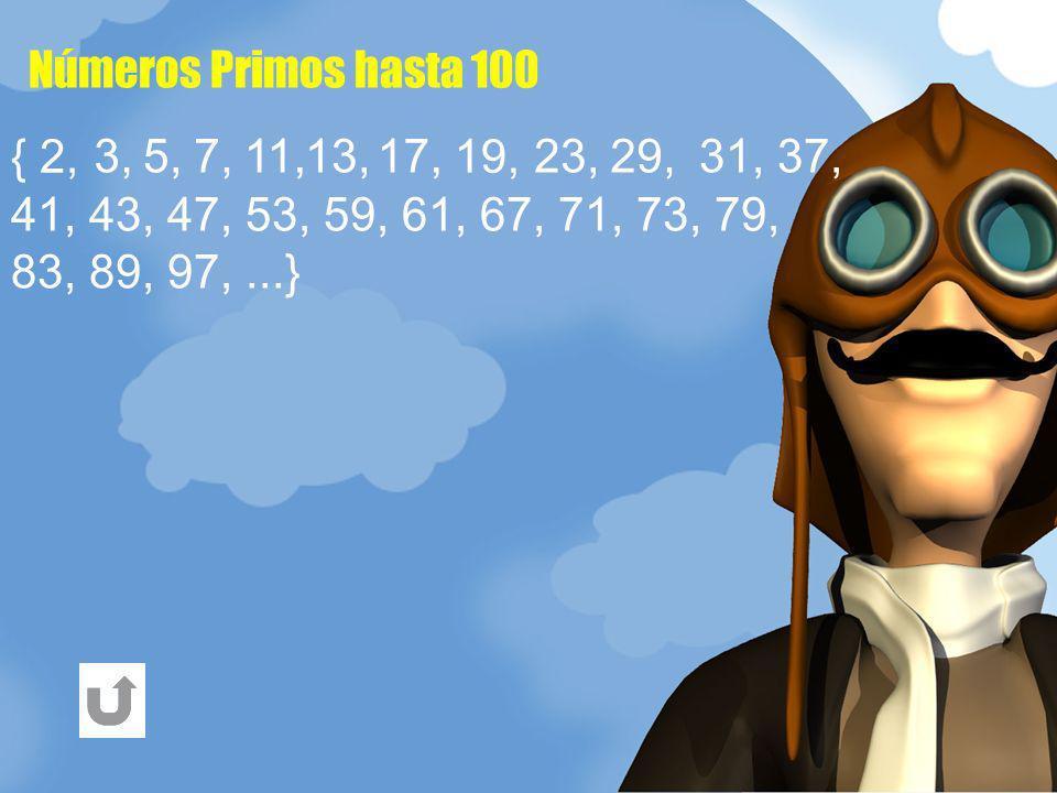 Números Primos hasta 100 29,17, { 2, 5,13,23,7,3, 11, 19, 31, 37, 41, 43, 47, 53, 59, 61, 67, 71, 73, 79, 83, 89, 97,...}