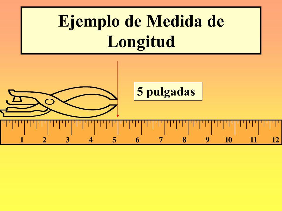 Ejemplo de Medida de Longitud 6 3/4 pulgadas