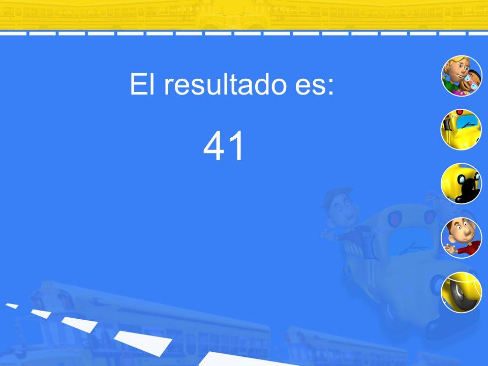 El resultado es: 41